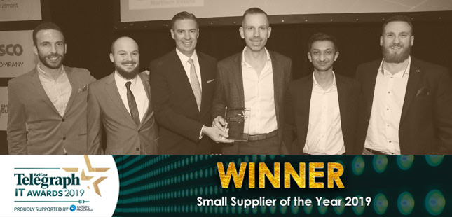 Fathom wins Small Supplier of the Year at Belfast Telegraph IT Awards 2019