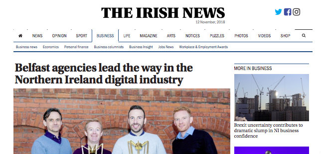 Irish News – Belfast agencies lead the way