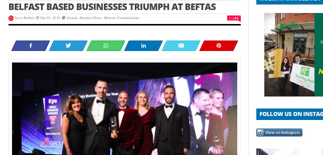 Love Belfast – Triumph at BEFTAs