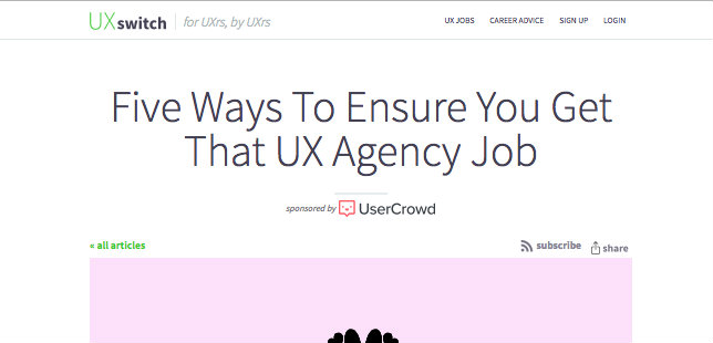 UXswitch – Get that UX Agency Job